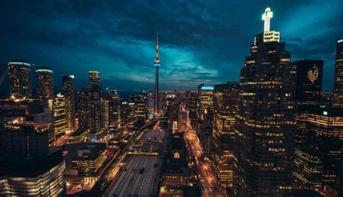 Suasana Lampu Kota Malam