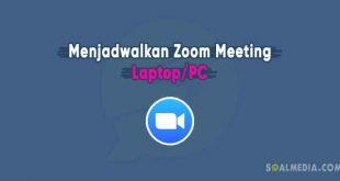 membuat jadwal zoom laptop