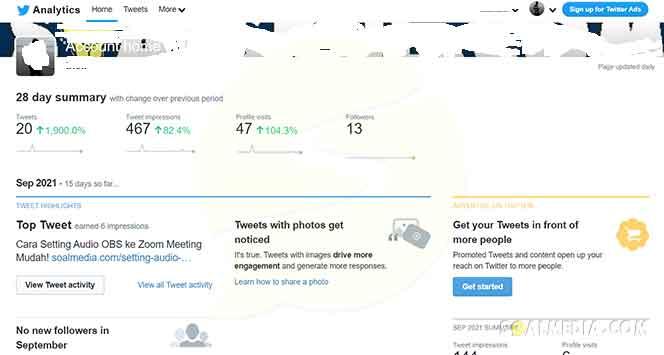 dashboard twitter analytics